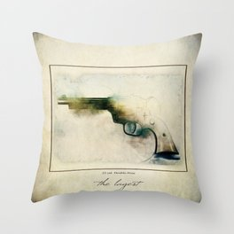 The LaGest 22 cal Double Nine Gun Throw Pillow