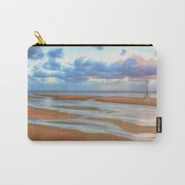 The Beach at Sunset (Digital Art)  Carry-All Pouch