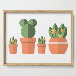 Potted Plant Family Serving Tray
