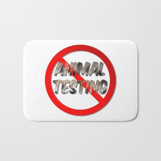 No Animal Testing Sign Bath Mat