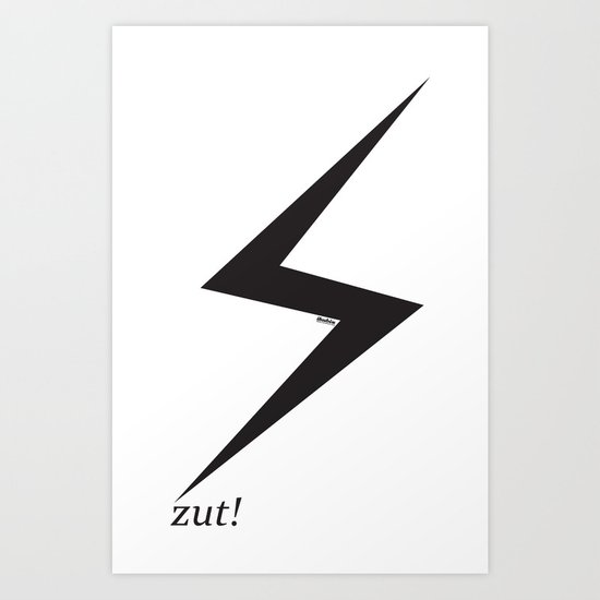 ⚡ zut! Art Print