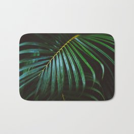 Tropical Palm Leaf Bath Mat