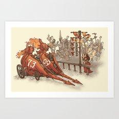 Drag Racers Art Print