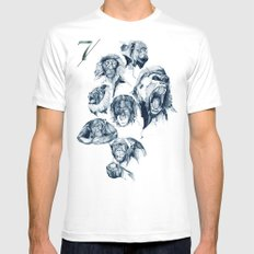 Seven Monkeys MEDIUM White Mens Fitted Tee