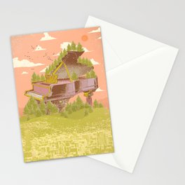 FOREST PIANO Stationery Cards