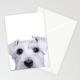 Schnauzer original Dog original painting print Stationery Cards