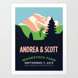 Mountains Print Art Print