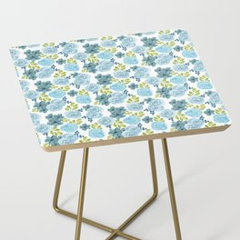 Blue Roses Side Table