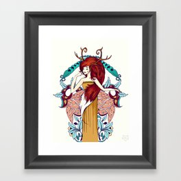 Lady of Fall Framed Art Print