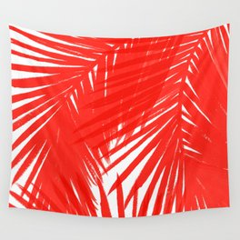 Palms Red Hot Wall Tapestry