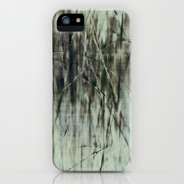 Emerald grass ~ Abstract iPhone Case
