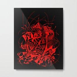 Filanes-45 deep red Metal Print