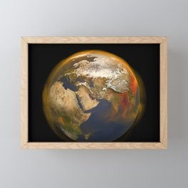 14. Tracking Methane Sources and Movement Around the Globe Framed Mini Art Print