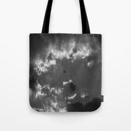 Plane and storm Tote Bag