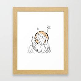 Laxin' Framed Art Print