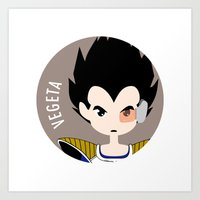 vegeta Art Prints featuring Vegeta by gaps81
