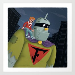 Buzz and Frankenstein Jr. Art Print