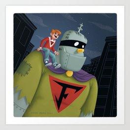 Buzz and Frankenstein Jr. Art Print