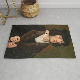 "Lucas Cranach the Elder ""Portrait of a Man with a Rosary"" Rug"