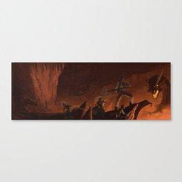 Two Dragons Canvas Print