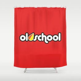 OLDSCHOOL v3 HQvector Shower Curtain