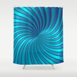 Blue Spiral Vortex G213 Shower Curtain