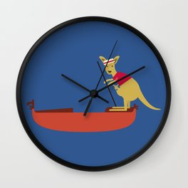 Kangaroo on Gondola Wall Clock
