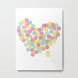 Confetti Heart Love Metal Print