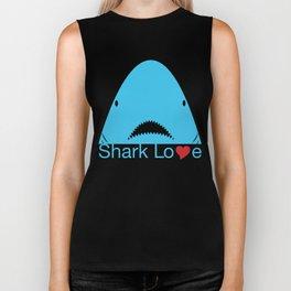 Shark Love Shirts (blue) Biker Tank