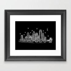 Philadelphia, Pennsylvania City Skyline Framed Art Print
