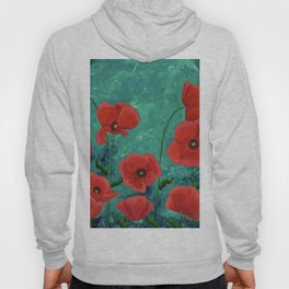 Red Poppies Hoody