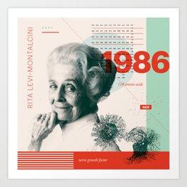 Beyond Curie: Rita Levi-Montalcini Art Print