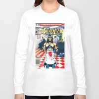 conan Long Sleeve T-shirts featuring CONAN THE BARBERER by i live