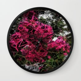 Crape Myrtle Letters 2 Wall Clock