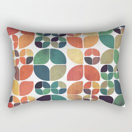 Vintage Fall Pattern Rectangular Pillow