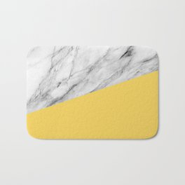 Marble and Primrose Yellow Color Bath Mat