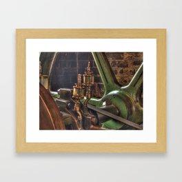 Steam engine - square Framed Art Print