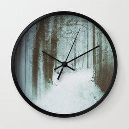 A Bleak Midwinter Wall Clock
