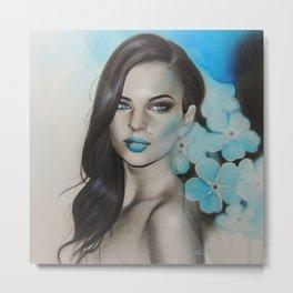'Blue Sapphire' Metal Print