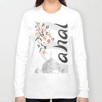 font Long Sleeve T-shirts featuring Mahal Font by John Hernandez Art