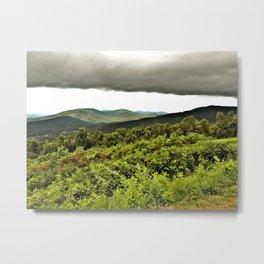 Mountain Storm Photography Metal Print