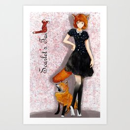 Scarlet Fox Art Print