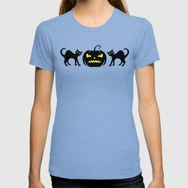 Black Cats Funny Scary Jack-O-Lantern T-shirt