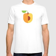 Fruit: Apricot White SMALL Mens Fitted Tee