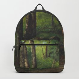 """Gustave Courbet """"Path through the Forest"""" Backpack"""