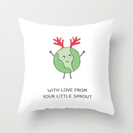 Little Sprout Throw Pillow