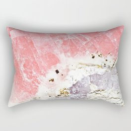 GOLD FLECKED ROSE QUARTZ Rectangular Pillow