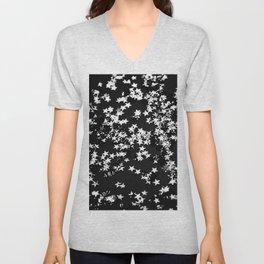 Black Night Glitter Stars #1 #shiny #decor #art #society6 Unisex V-Neck