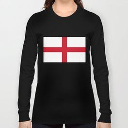 Flag of England (St. George's Cross) - Authentic version to scale and color Long Sleeve T-shirt