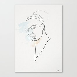 One Line Nina Simone Canvas Print
